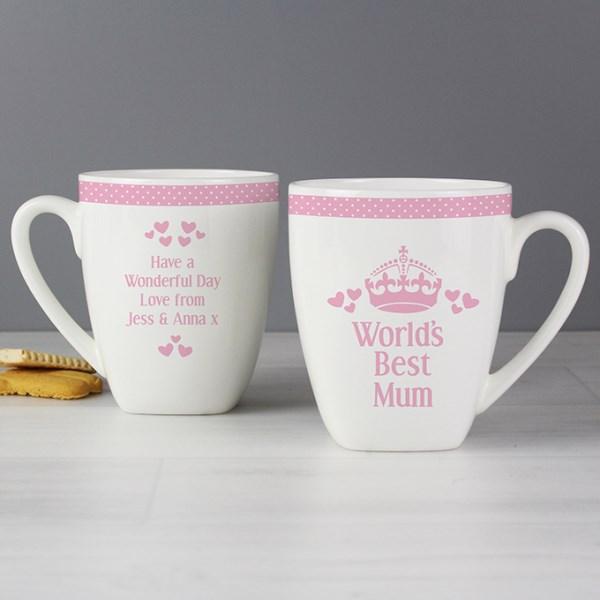 Pink World's Best Latte Mug