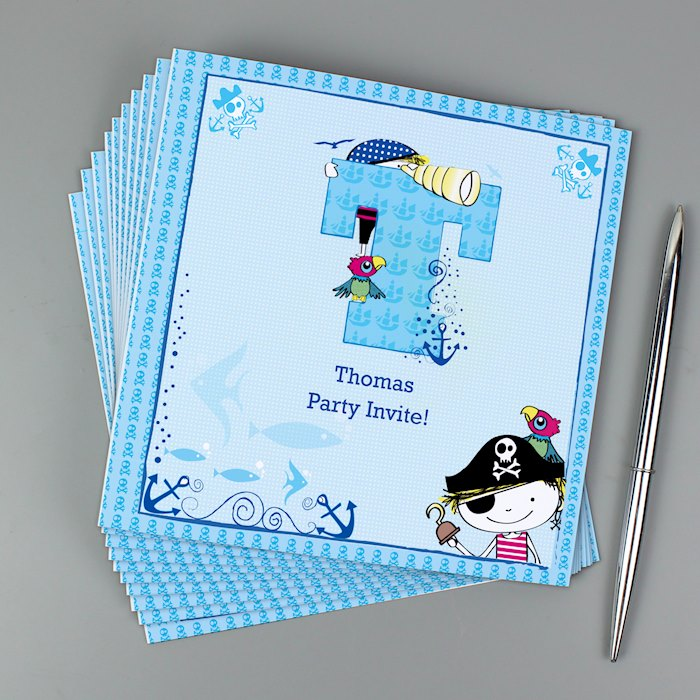 Pirate Letter Pack of 20 Invitations