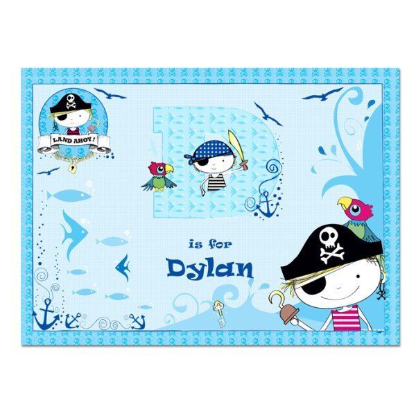 Pirate Laminated Print Placemat