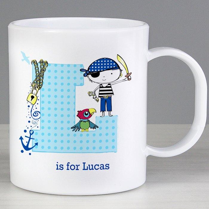 Personalised Pirate Plastic Mug