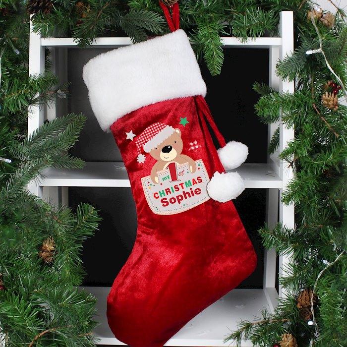 Pocket Teddy My 1st Christmas Stocking