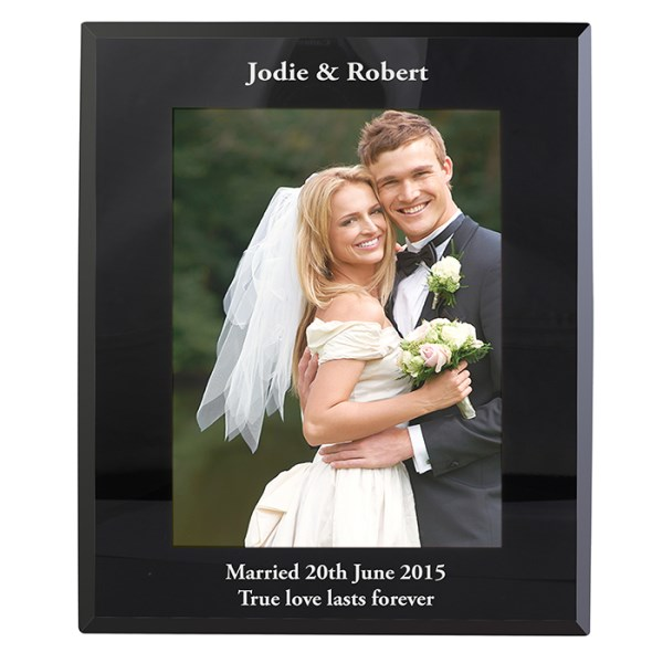 Portrait Black Glass Photo Frame 5x7