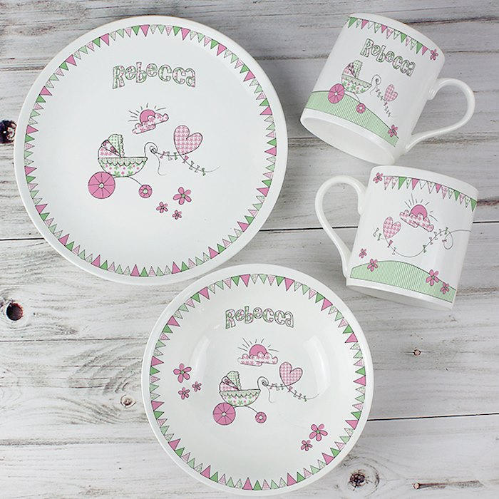 Pram Bunting Breakfast Set