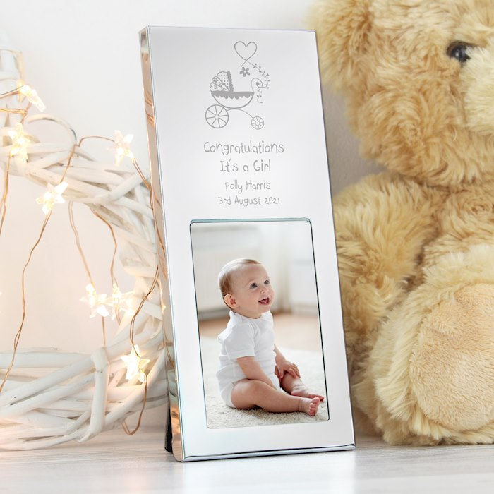 Pram Small Silver 2x3 Photo Frame