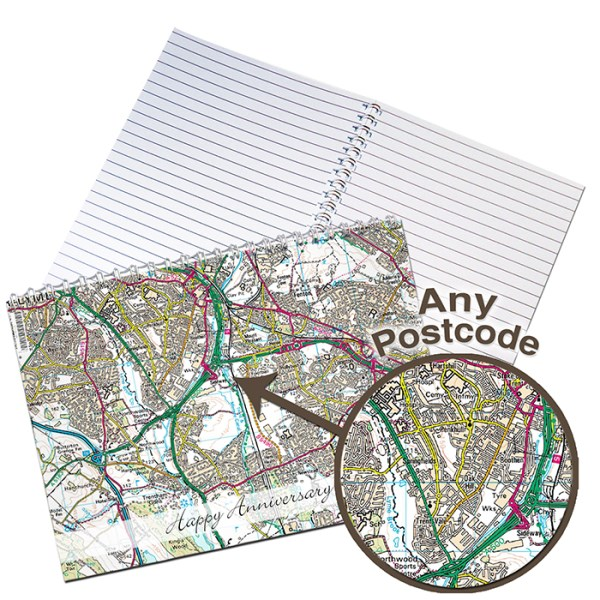 Present Day Map A5 Notebook