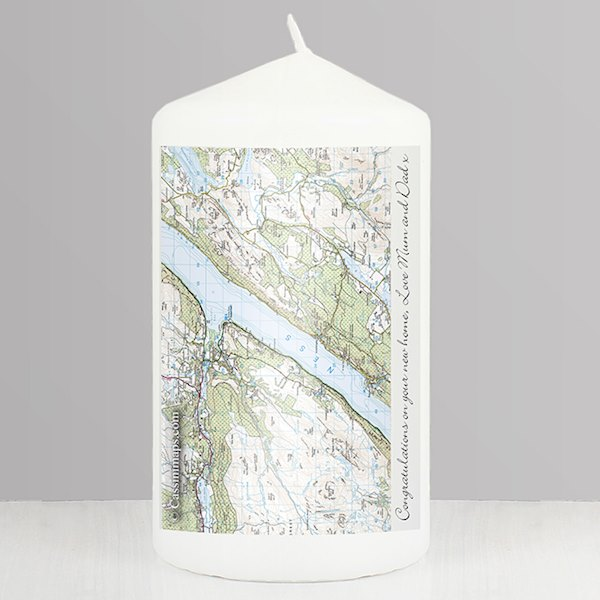 Present Day Map Candle