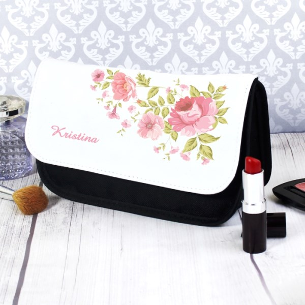 Pretty Rose Make Up Bag