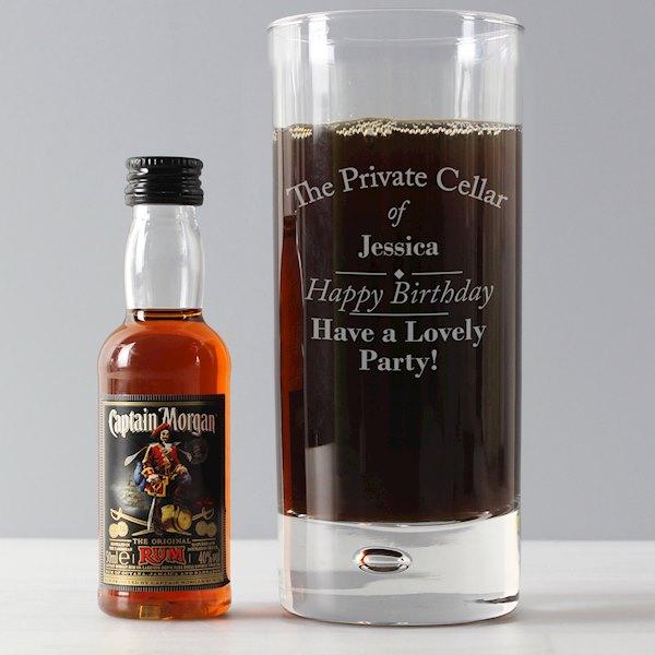 Private Cellar Hi Ball & Rum Miniature Set