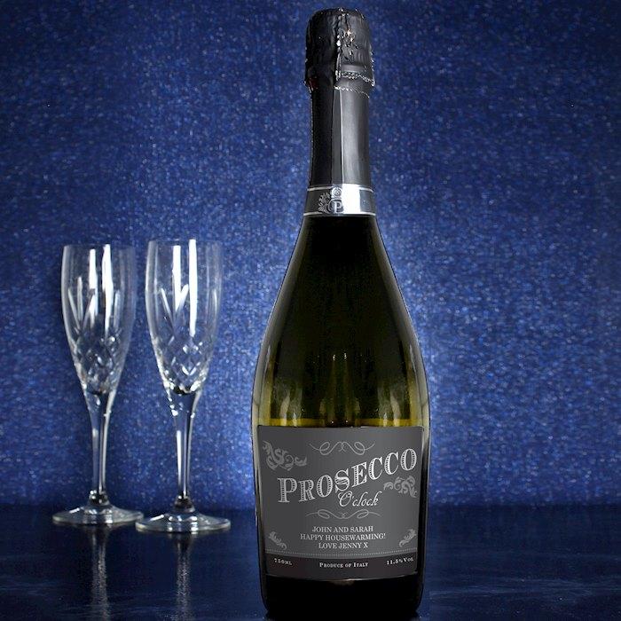 'Prosecco O'Clock' Bottle of Prosecco