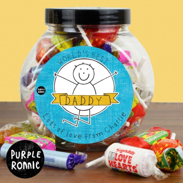 Purple Ronnie Celebration Jar of Sweets For Him