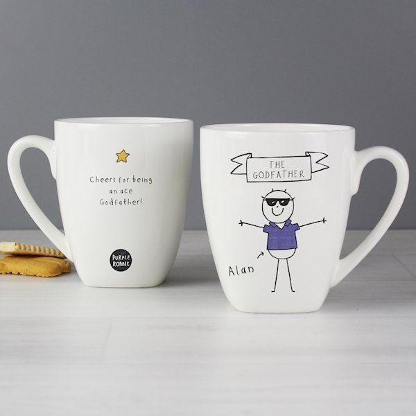 Purple Ronnie Cool Dude Latte Mug
