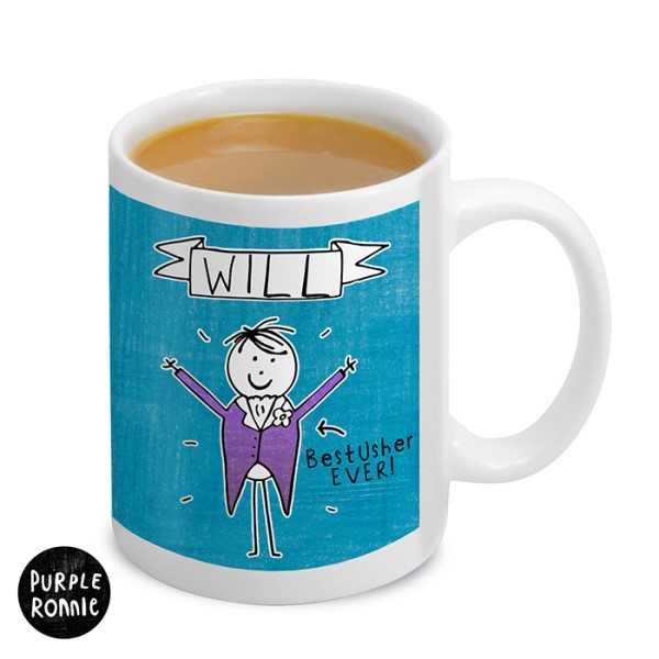 Purple Ronnie Male Wedding Mug