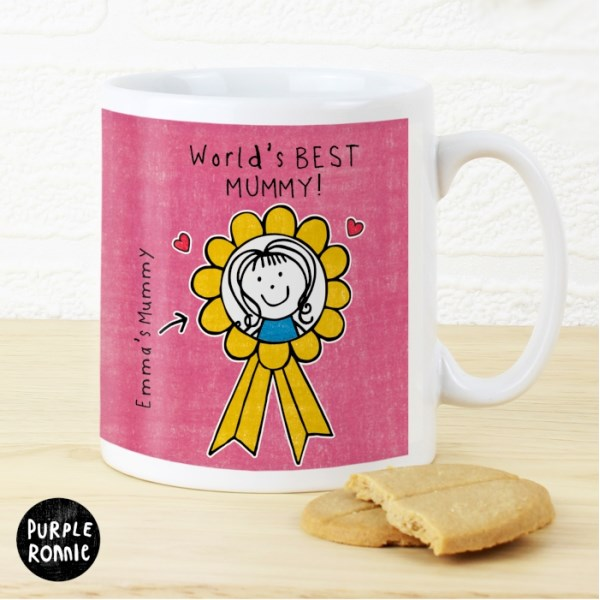 Purple Ronnie Rosette Mug For Her