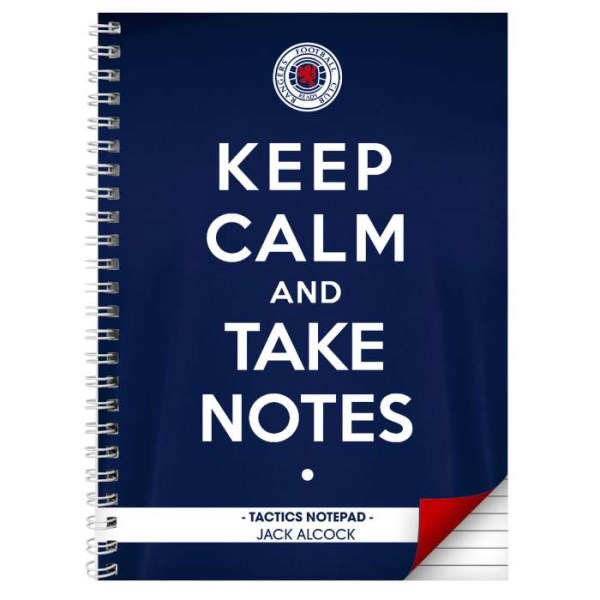 Rangers Keep Calm A4 Notebook