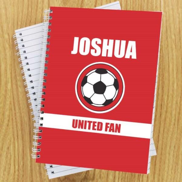 Red Football Fan A5 Notebook