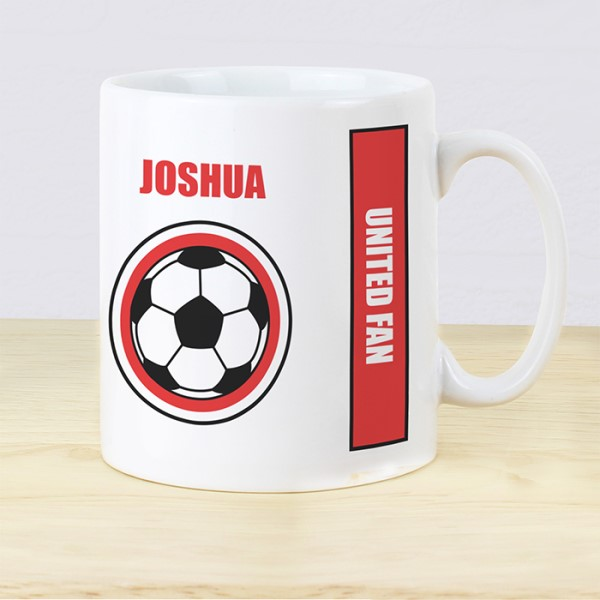 Red Football Fan Mug