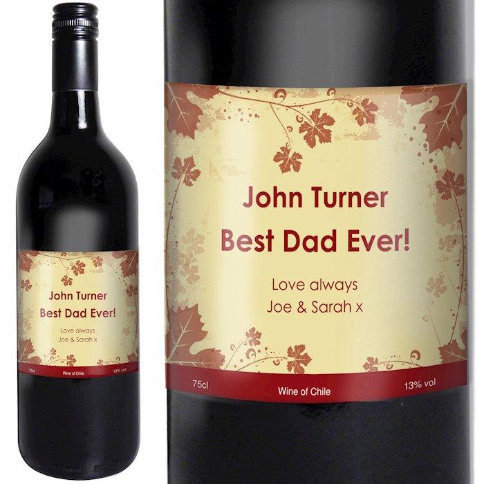 Red Wine Ivy Label