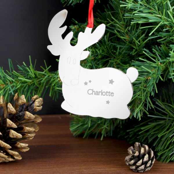 Reindeer Name Only Tree Decoration