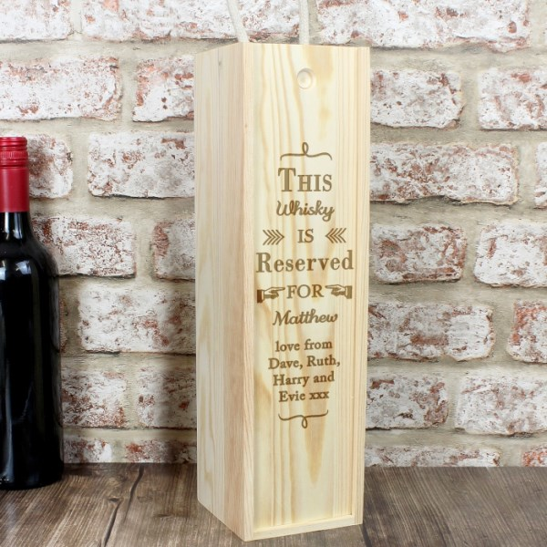 Reserved For Bottle Presentation Box