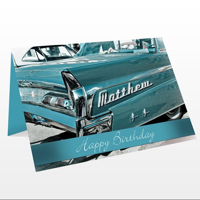 Retro Car Card