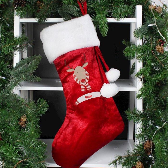 Retro Reindeer Stocking