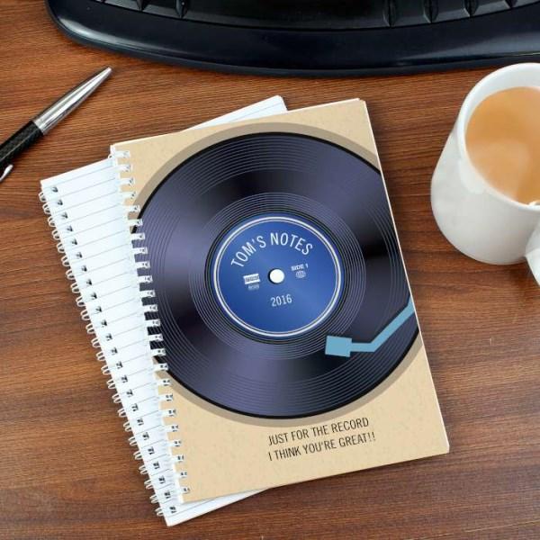 Retro Vinyl A5 Notebook