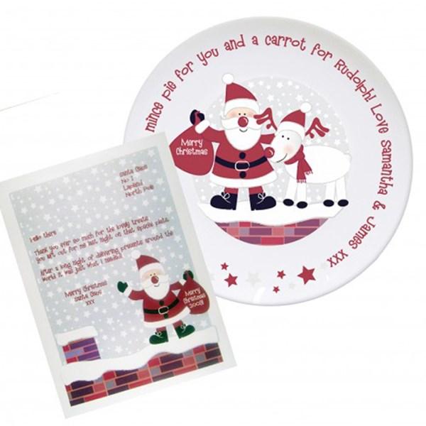 Rooftop Santa Mince Pie Plate