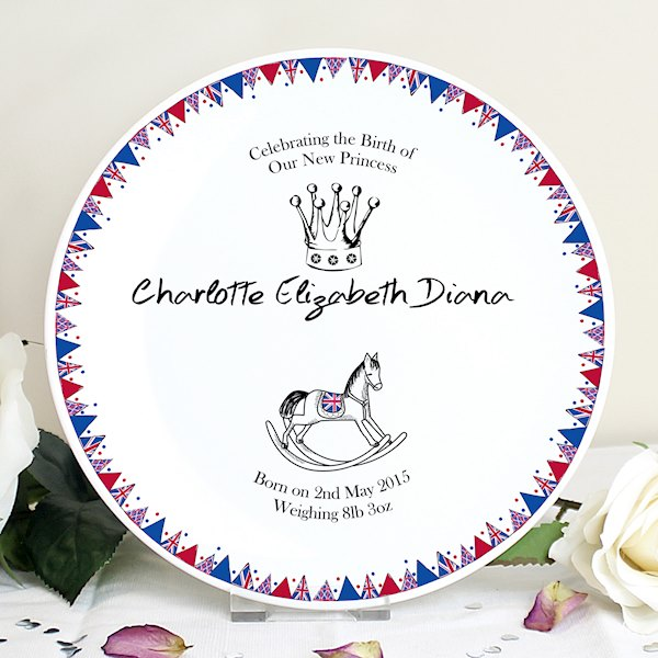 Royal Baby Bunting Plate
