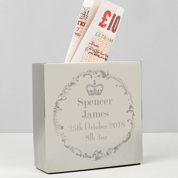 Royal Crown Square Money Box