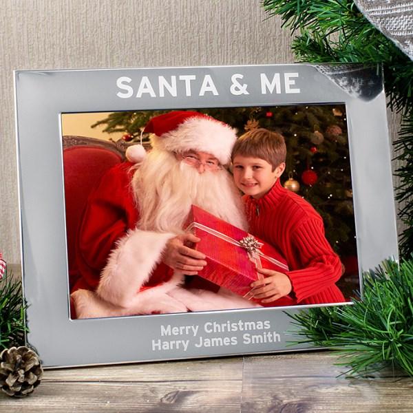 Santa & Me 7x5 Landscape Photo Frame