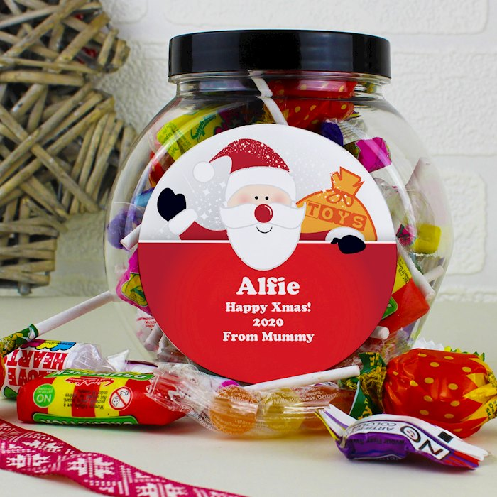 Santa Round Sweet Jar