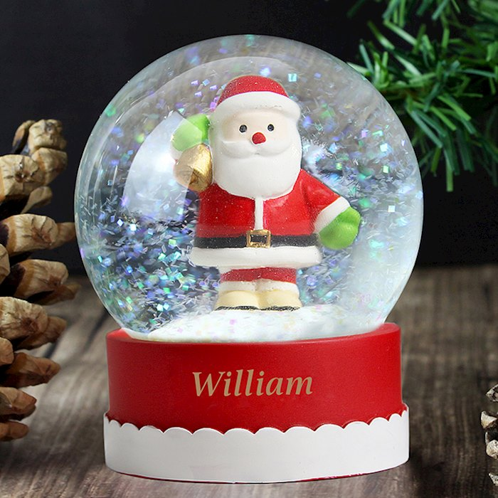 Personalised Santa Any Name Snow Globe