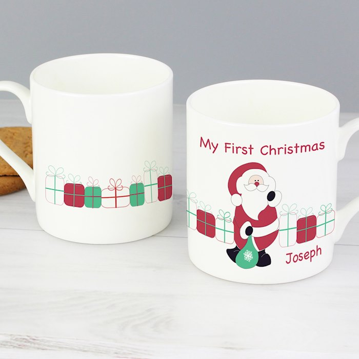Santa with Presents Mug