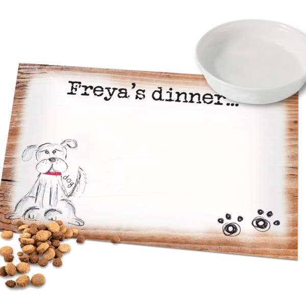 Scribble Dog Laminated Print Placemat