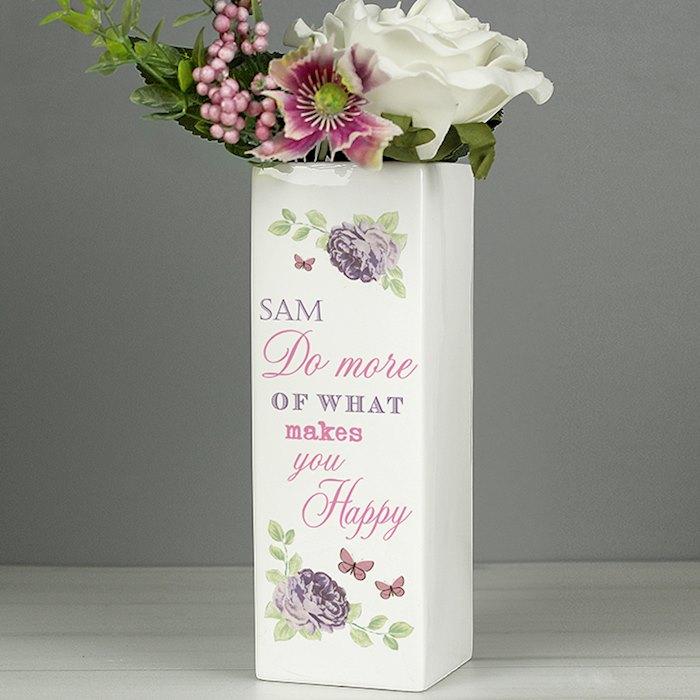 Secret Garden Square Vase