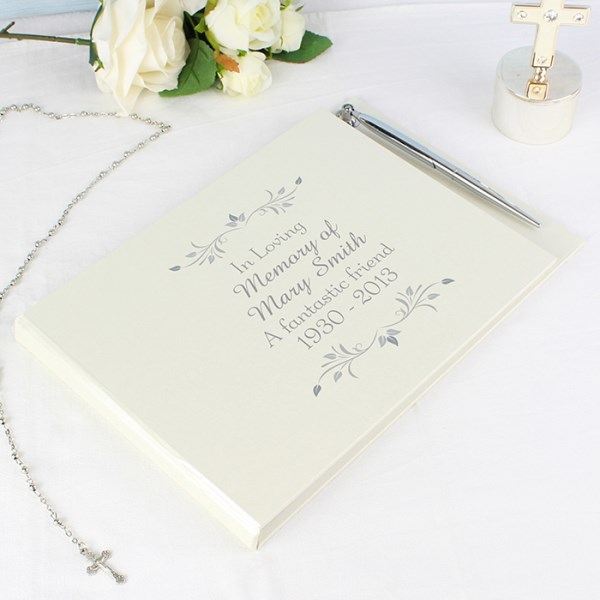 Personalised Sentiments Hardback Guest Book & Pen