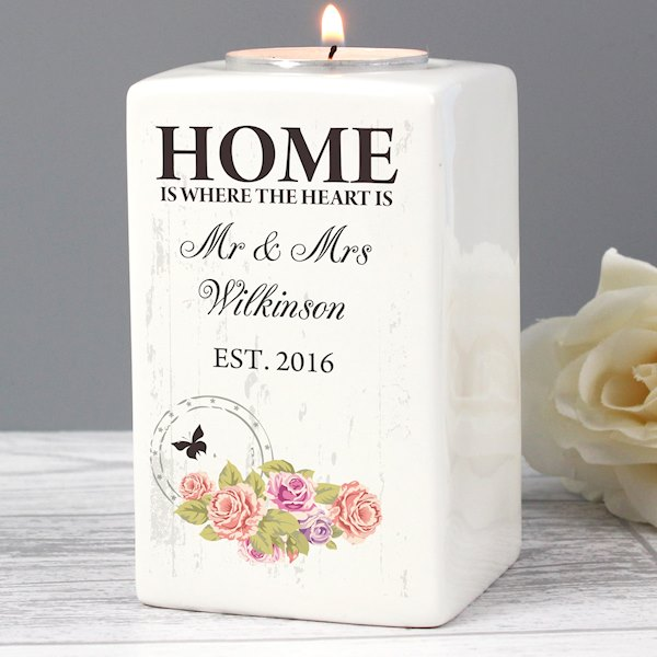 Shabby Chic Ceramic Tea Light Candle Holder