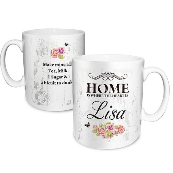 Shabby Chic Floral Mug