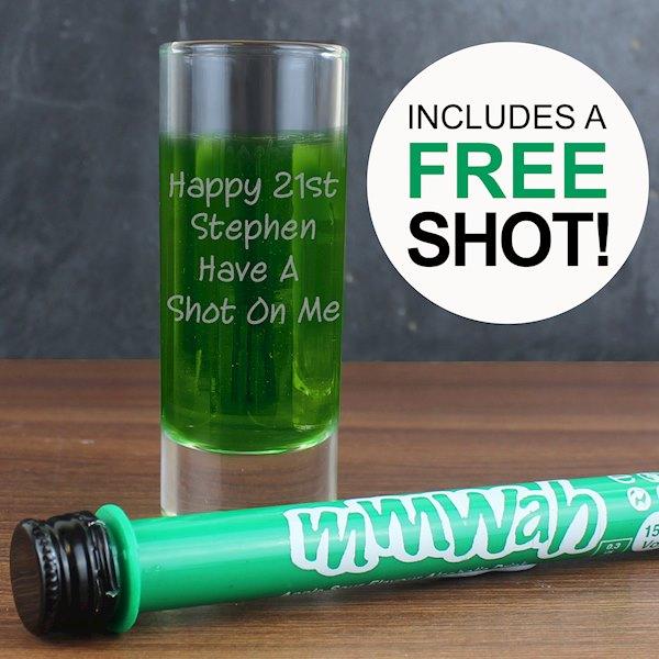 Shot Glass & Mmwah! Apple Sour Miniature Shot Set