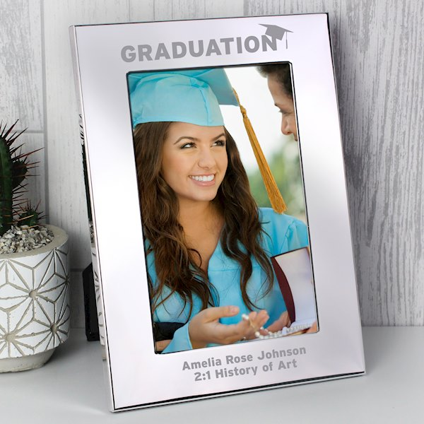Silver 4x6 Graduation Photo Frame