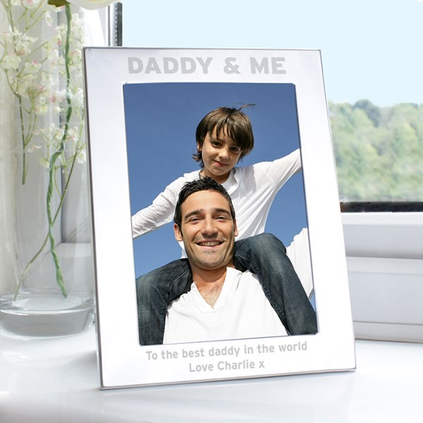 Silver 5x7 Daddy & Me Photo Frame