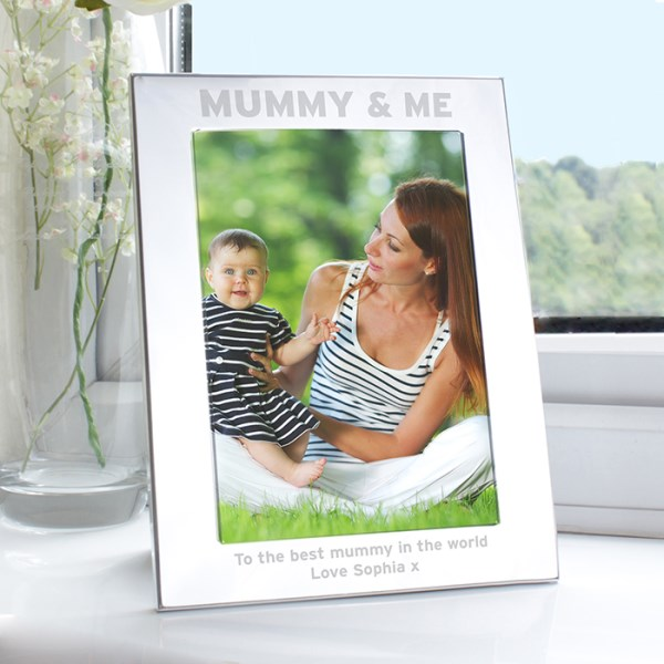 Silver 5x7 Mummy & Me Photo Frame