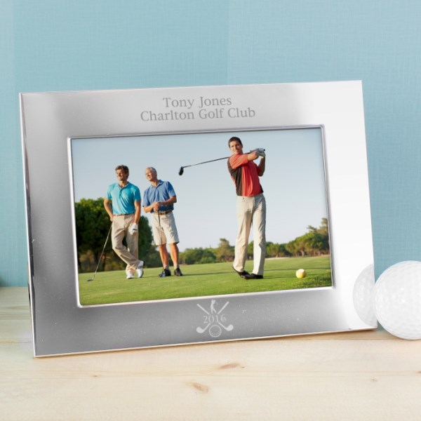Silver 6x4 Golf Photo Frame