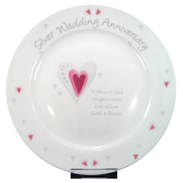 Silver Anniversary Plate