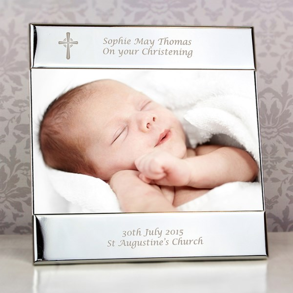 Silver Cross Square 6 x 4 Photo Frame
