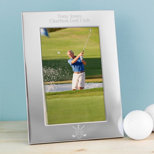 Silver Golf 4x6 Photo Frame