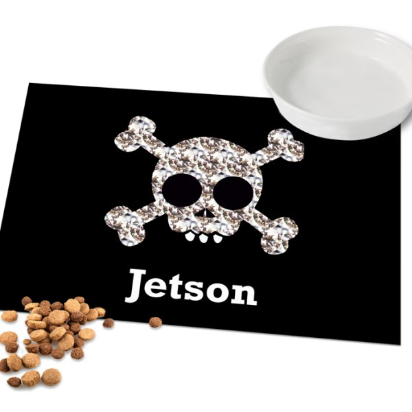 Skull and Crossbones Pet Laminated Print Placemat