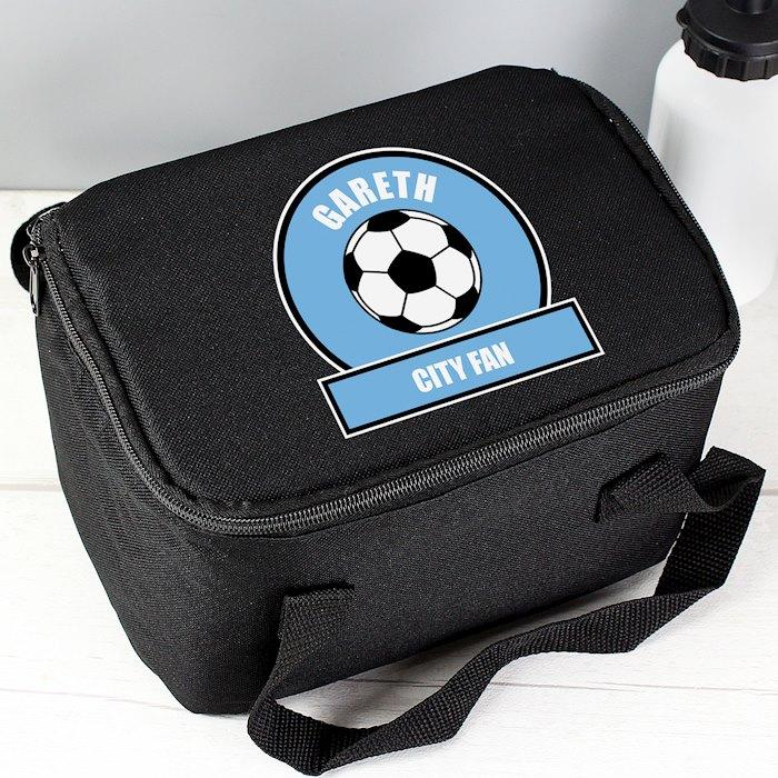 Sky Blue Football Fan Lunch Bag