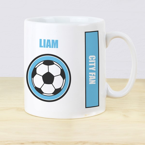 Sky Blue Football Fan Mug