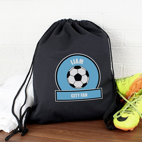Sky Blue Football Fan Swim & Kit Bag